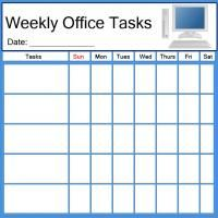 Printable Pc Office Task List  Printable Chore Charts  Free