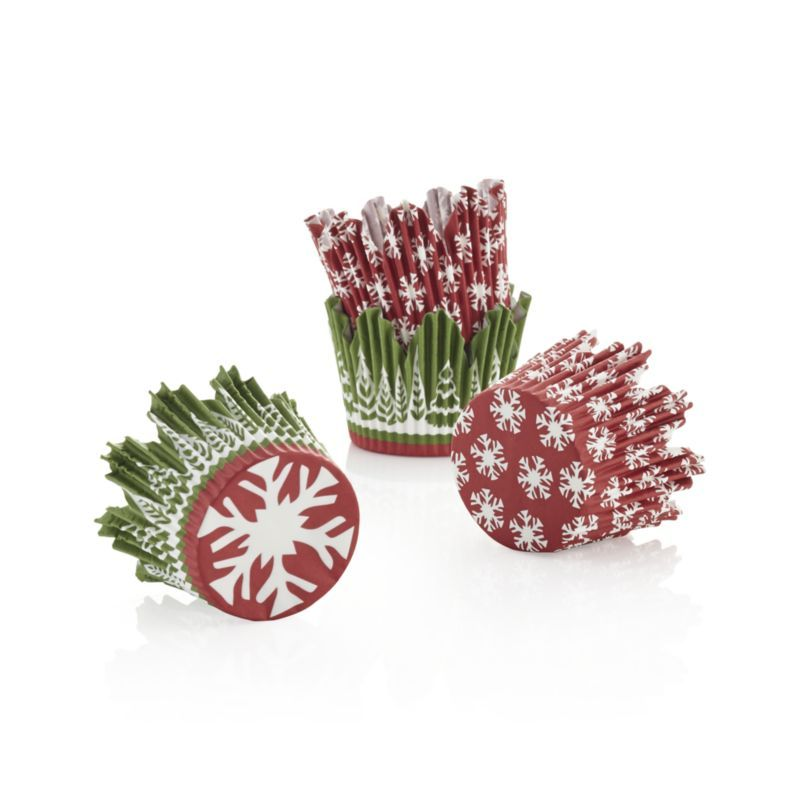Set of 48 Holiday Cupcake Papers in Baking Utensils | Crate and Barrel