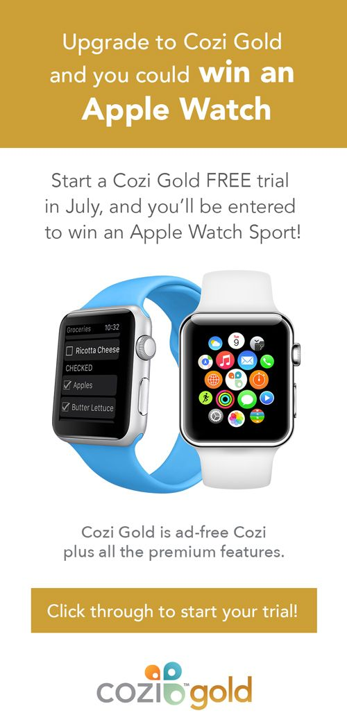 Start a Cozi Gold FREE trial in July, and you'll be