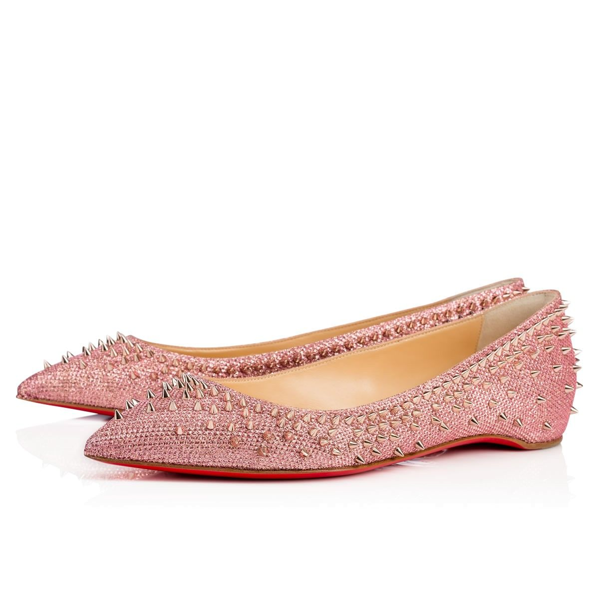 7c9715c9894 CHRISTIAN LOUBOUTIN Escarpic Flat Poudre/Pink Bronze Glitter - Women ...