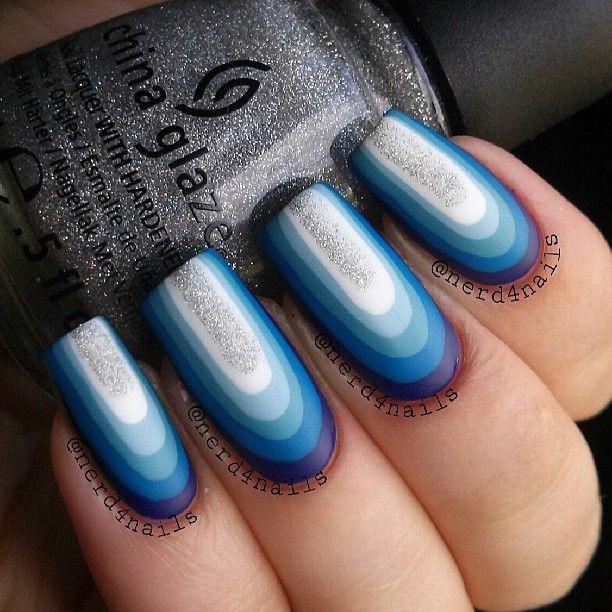 16 Super Cool Ombre Gradient Nail Art Tutorials: Instagram Photo By Nerd4nails #nail #nails #nailart