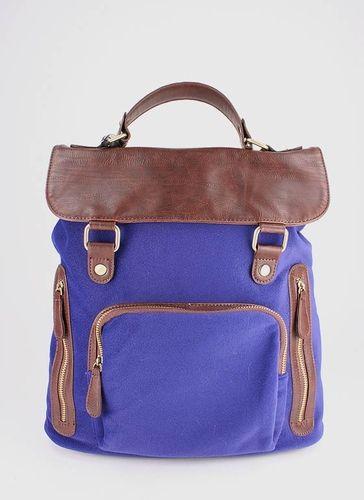 leatherette trim backpack  $57.20