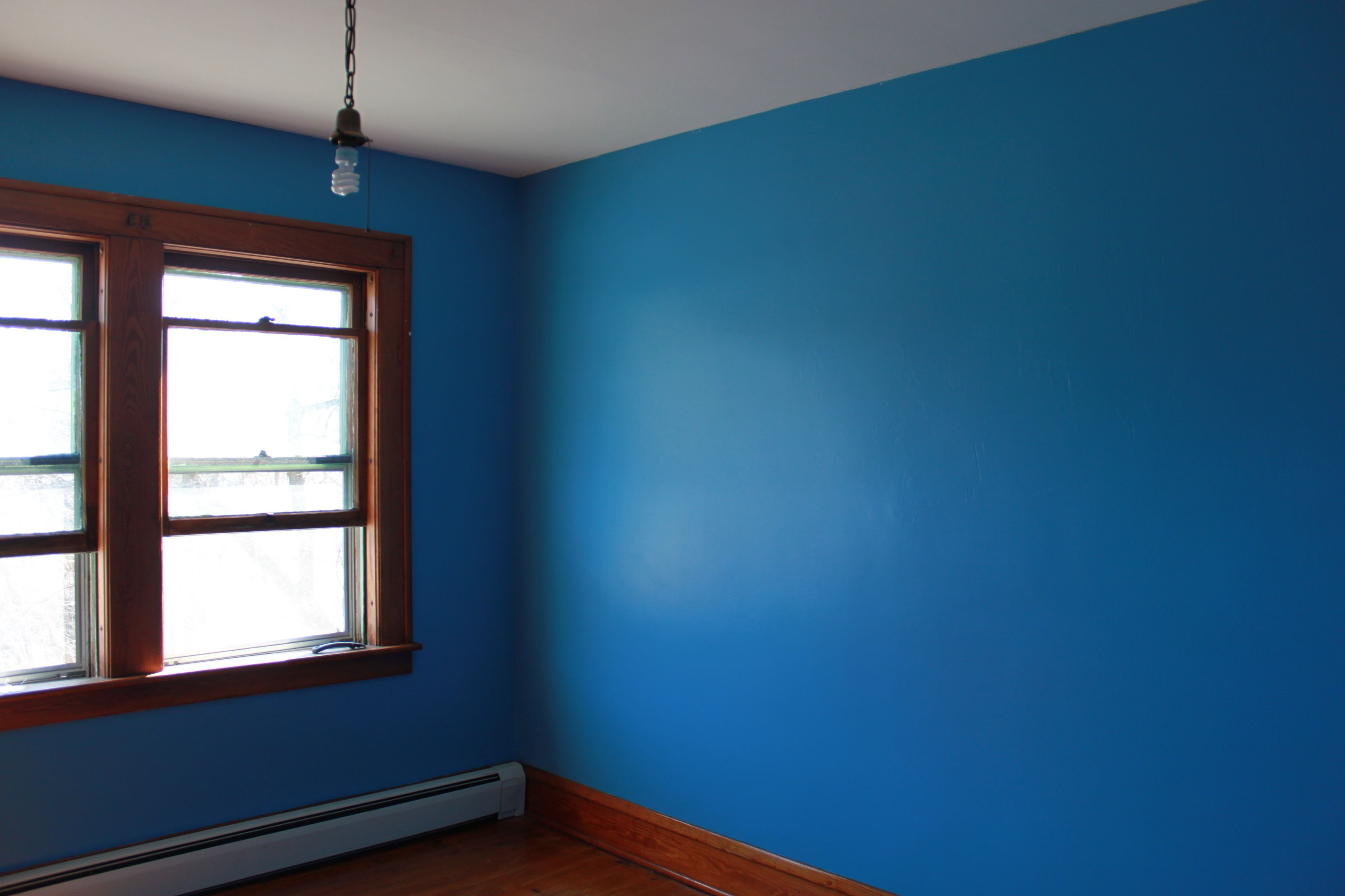 Blue Paint painting, alligatoring paint and plaster walls | blue walls