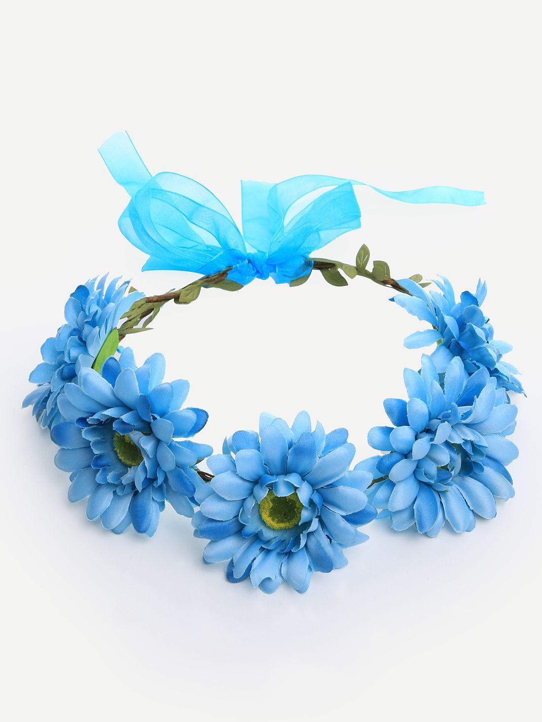 Blue flower crown hairband blue flower crown flower