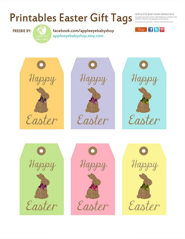 Free printables free printables and easter free printables easter tags by apple eye baby shop par apple eye baby shop negle Choice Image