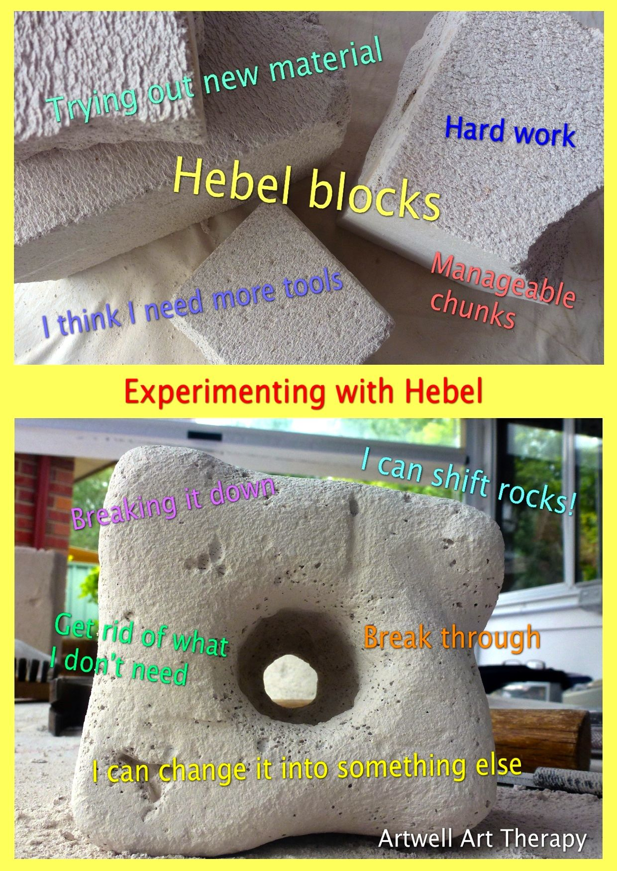 Working and creating with Hebel blocks lends itself to experiencing many facets of life. It's rich in metaphors.