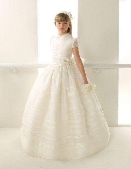 70c70ba210ec9 Rosa Clará First vestido de comunión con cuello bebé | Primera ...
