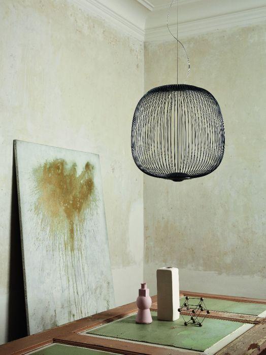 Spokes 2 large hanglamp graphite Foscarini | Slijkhuis Interieur ...