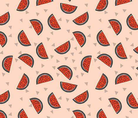 Watermelon - Blush/Vermillion/Charcoal by Andrea Lauren