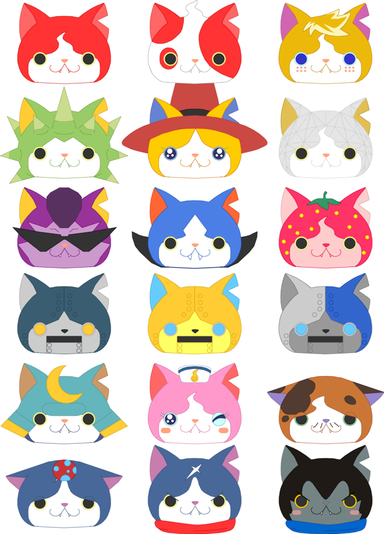 Wip The Many Faces Of Jibanyan By Prettysoldierpetite Deviantart Com On Deviantart Digimon Cosplay Yo Kai Watch 2 Character Design