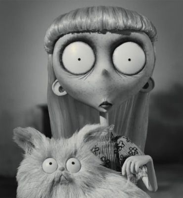 Weird Girl With Mr Whiskers Frankenweenie Tim Burton Art Tim Burton Tim Burton Characters