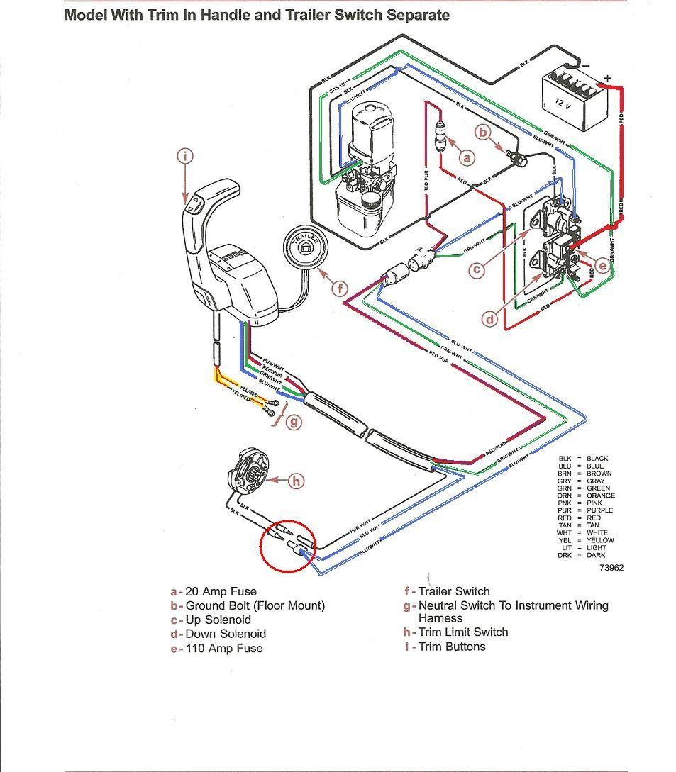 Awesome Mercruiser Tilt Trim Wiring Diagram In 2020 Wire Trim Map