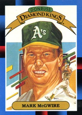 Mark Mcgwire For Donruss Diamond Kings Baseball Card Series In 1988