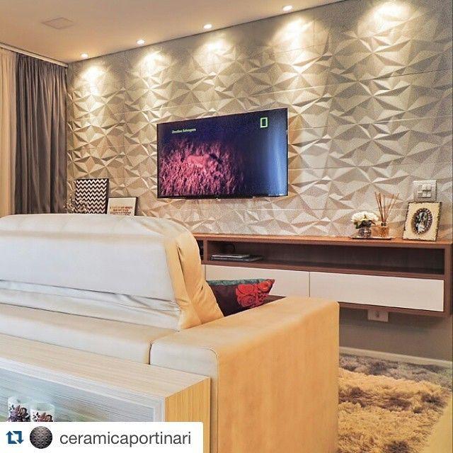Painel tv porcelanato pesquisa google decora o for Revestimento 3d sala de estar