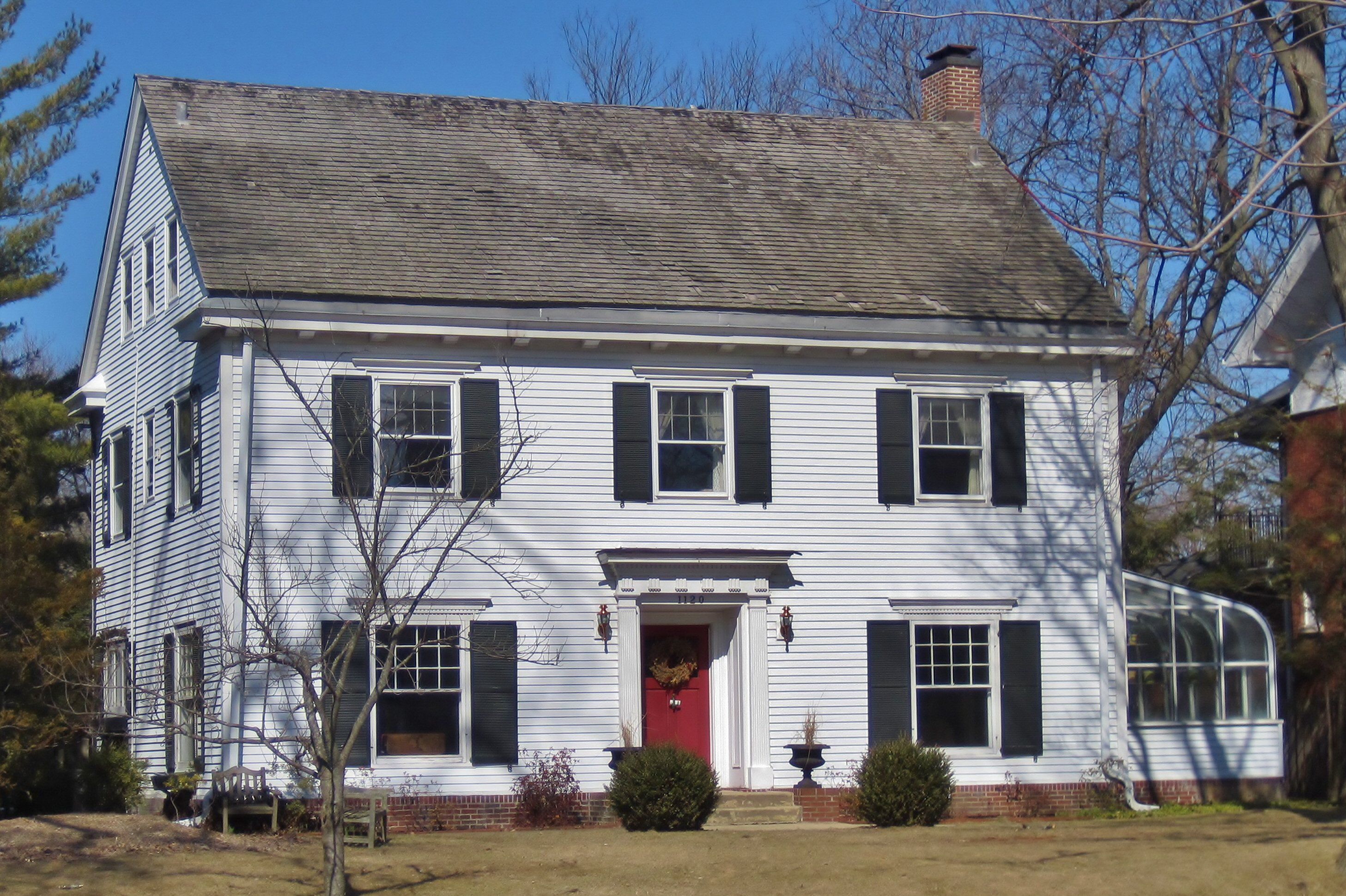 Colonial Revival Houses And Neocolonial Houses Red Door House Colonial Farmhouse House Shutters