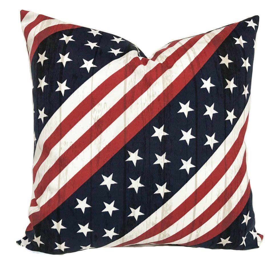 Outdoor Pillow Cover 20x20 Outdoor Throw Pillow Flag Pillow
