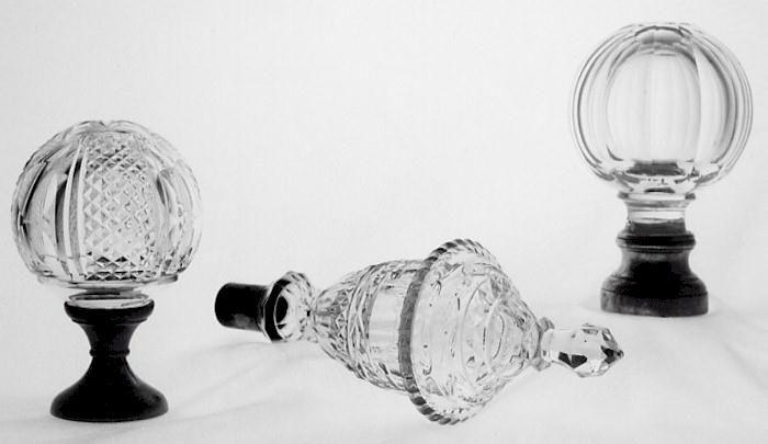 Wonderful Glass Finial For NEWEL POST   Poss. French (item #964556