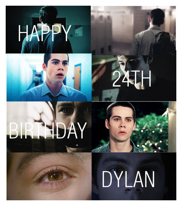 """""""Happy Birthday Dylan O'Brien!"""" by xdr-bieberx ❤ liked on Polyvore featuring kunst en dylanobrien"""