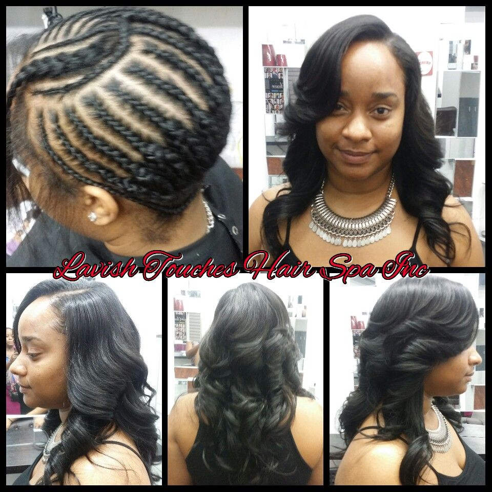 sew in hairstyles, side part sew in, body wave hairstyles, soft