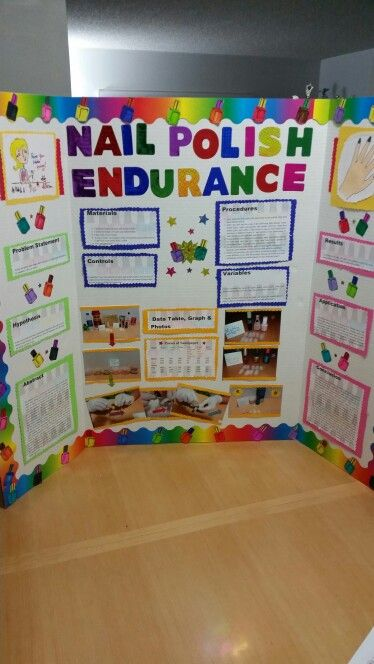 Nail Polish Endurance Science Fair Project By Bianca A Rivas Elementary Science Fair
