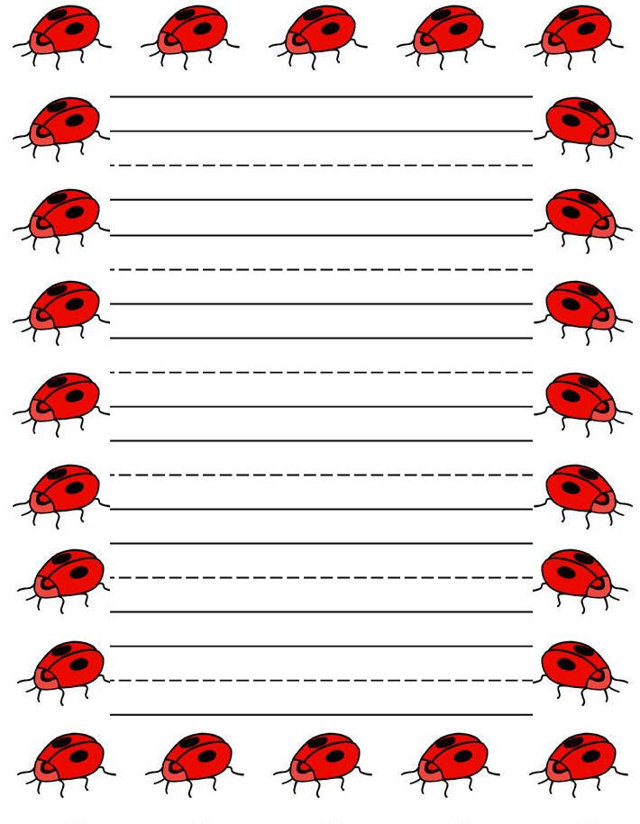 Sweethearts free printable stationery for kids, Regular lined hearts - lined stationary template