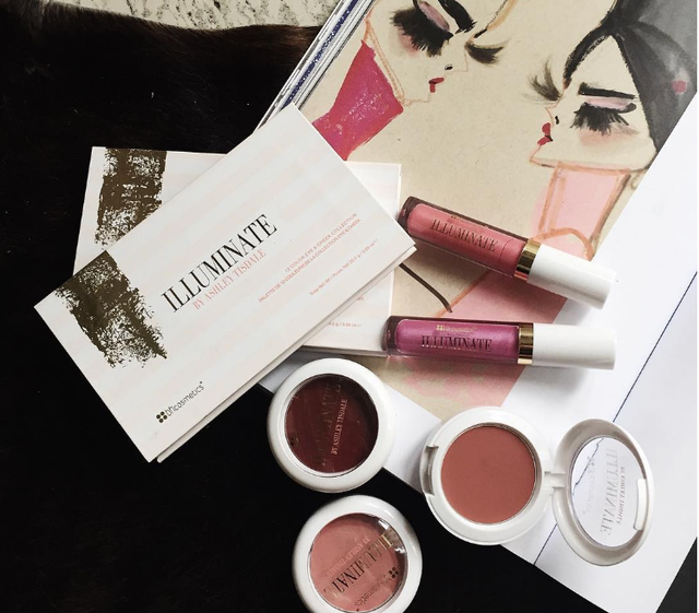 Ashley Tisdale's Illuminate makeup line is available at