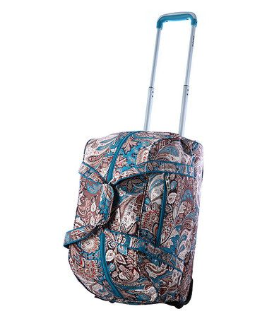 """Take a look at this Paisley Fashion 21"""" Wheeled Duffel by Olympia on #zulily today!"""
