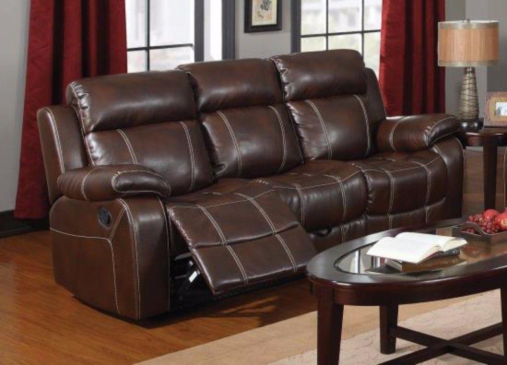 Myleene Casual Motion Sofa Coaster 603021 Reclining Sofa Leather Reclining Sofa Furniture