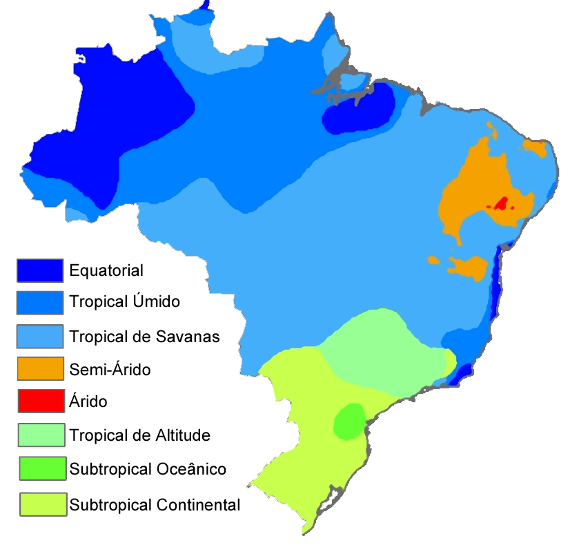 Brazilkoppenclimatemap Portuguese Brazil Climate Brazil Map Map