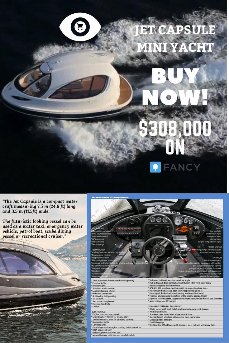 Jet Capsule Mini Yacht Yacht Lifeyachts Boats For Sale Mini