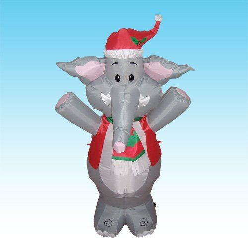 4 Foot Party Inflatable Cute Elephant - Yard Decoration BZB Goods - inflatable christmas yard decorations