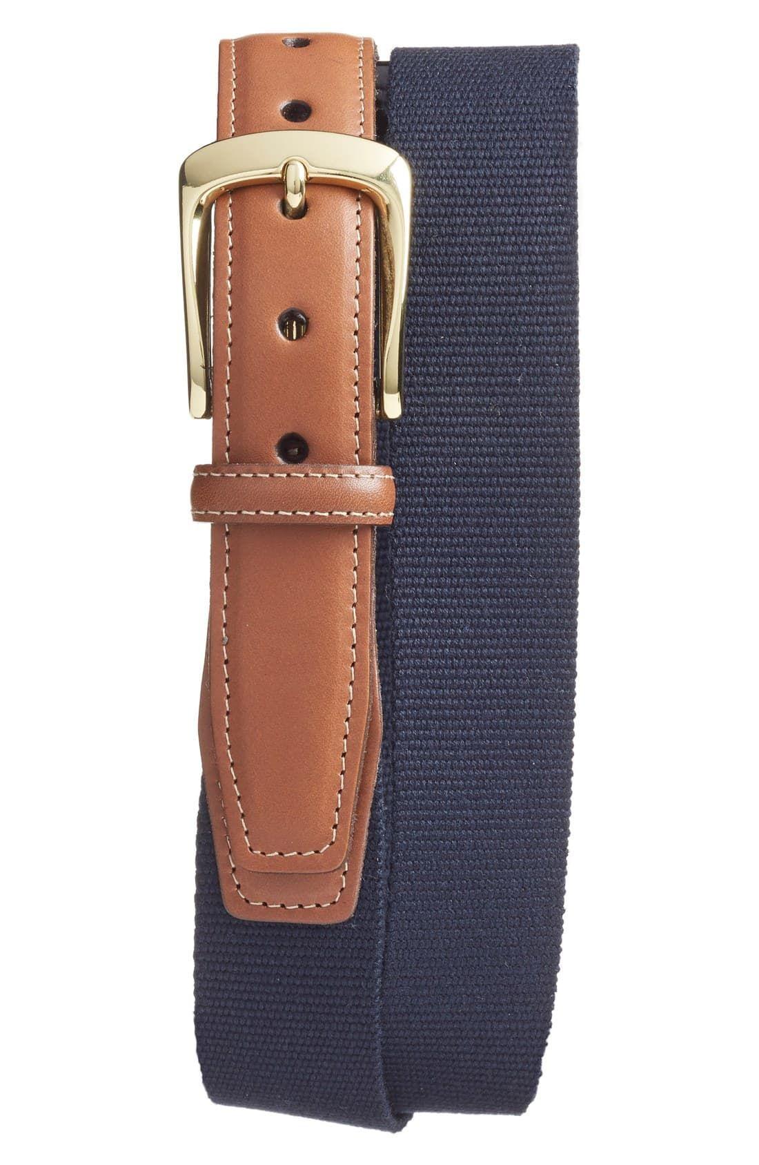 Men's Torino European Surcingle Belt, Size 38 Navy/ Red