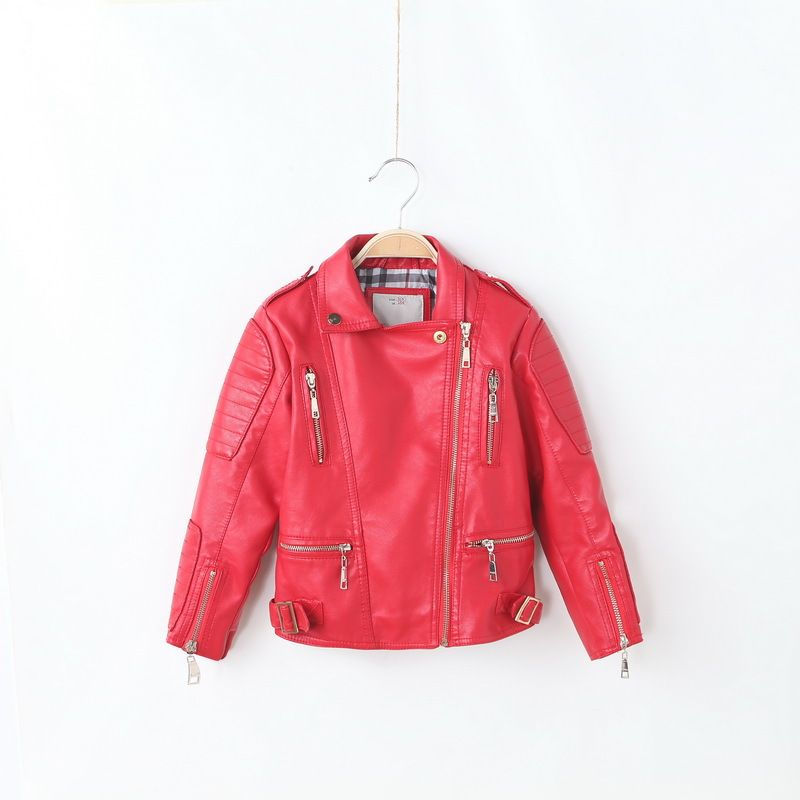 HOT Sale IMCCE Kids Leather Jacket Girls Boys outerwear 2017 ...