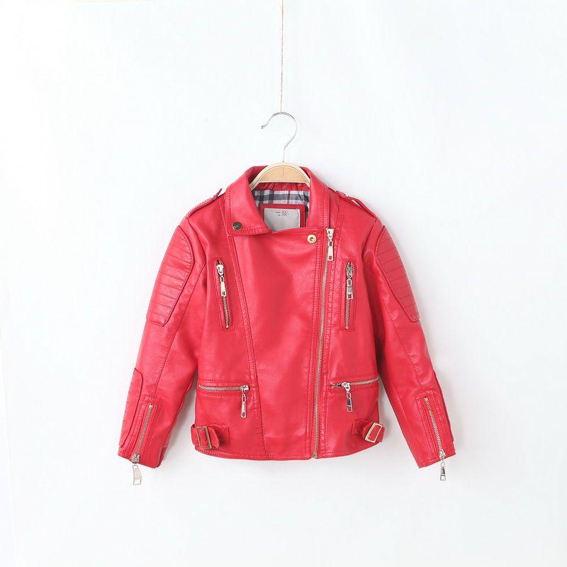 6686b9ab0b4c HOT Sale IMCCE Kids Leather Jacket Girls Boys outerwear 2017 Fashion ...