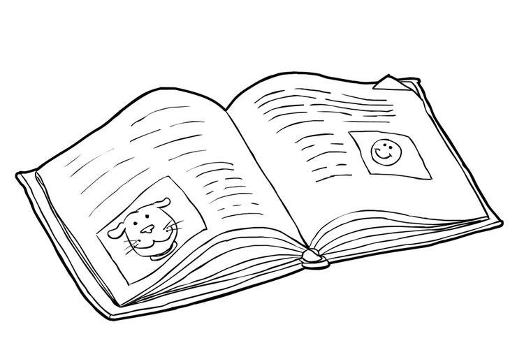 Malvorlage Buch Lesen 2 Ausmalbilder Gegenstande Coloring