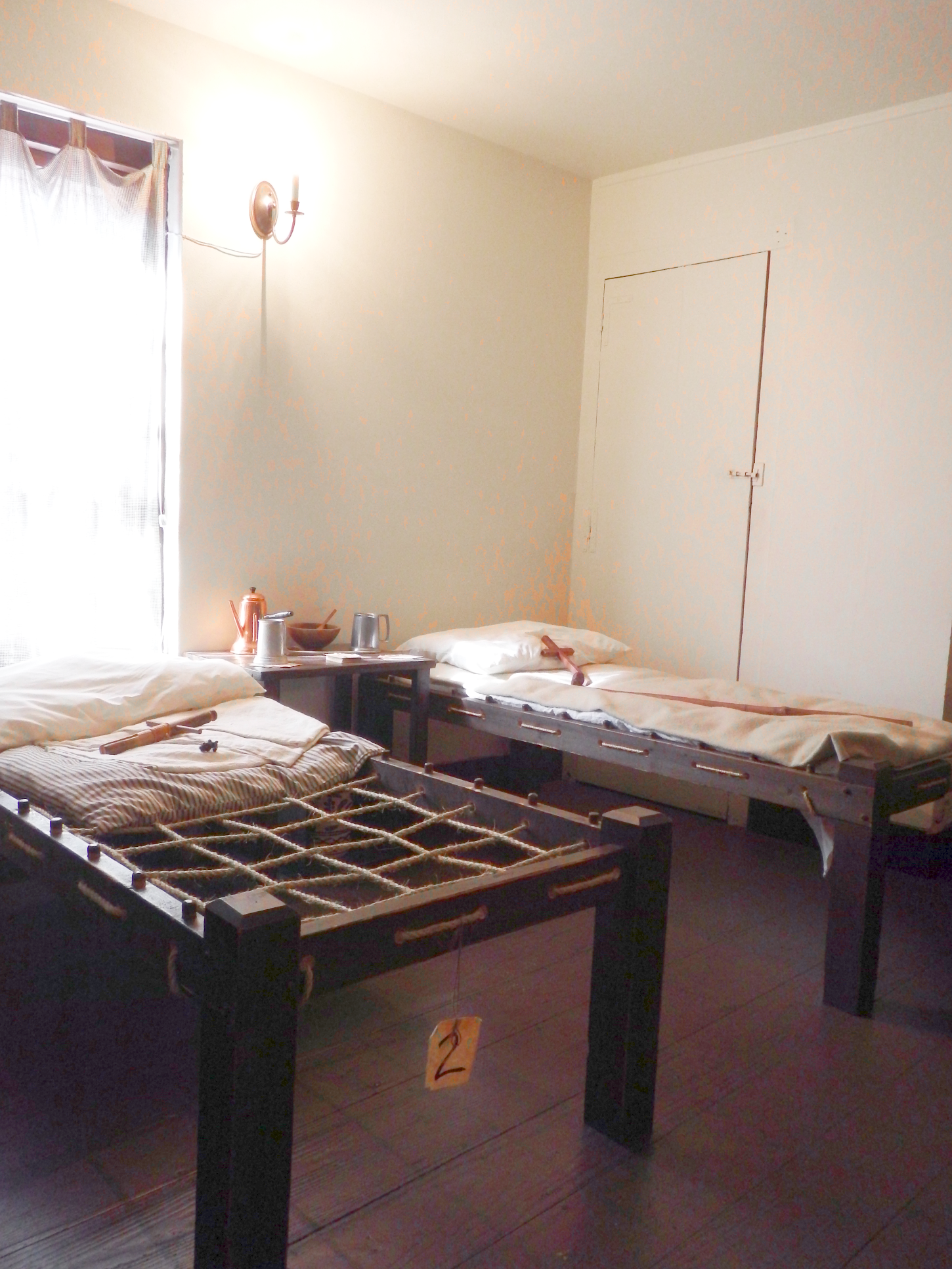 Hospital beds in the 17th century Spanish Hospital Museum