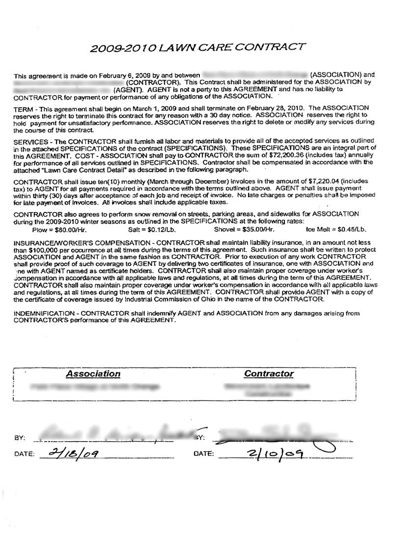 lawn care contract forms lawn maintenance contract a look at a 72 200 commercial lawn care contract lawn care