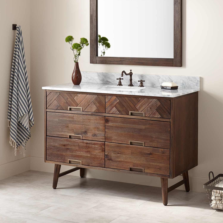 "48"" Danenberg Vanity for Rectangular Undermount Sink  Can 2 sinks be installed?"