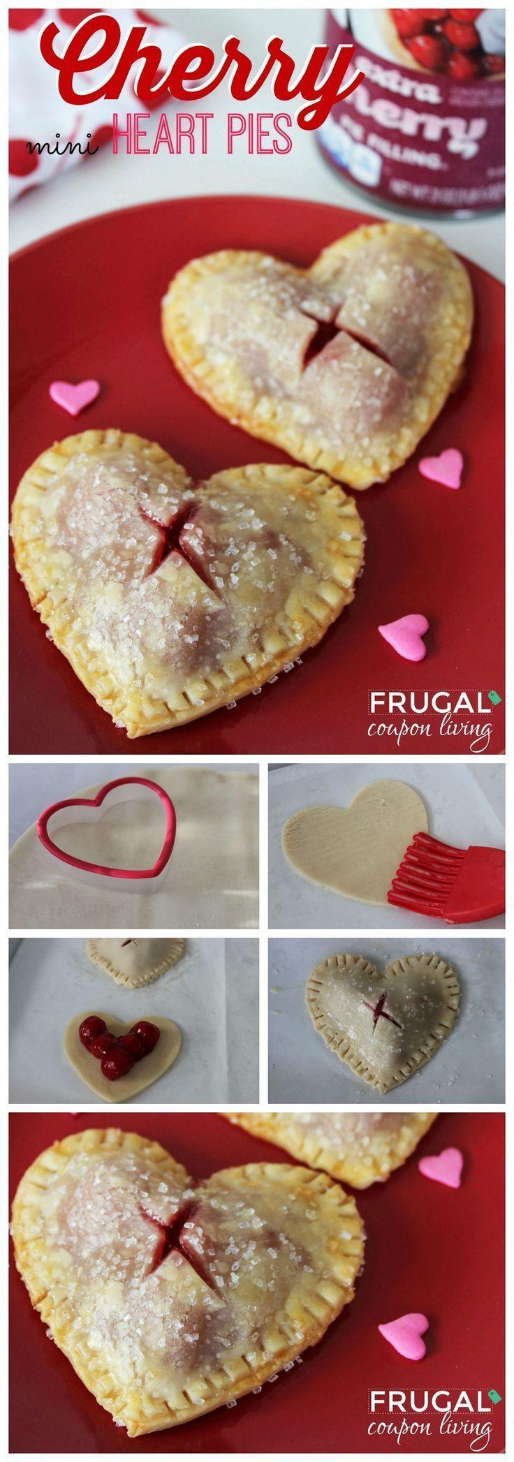 Cherry Heart Pies DIY Valentinstag Valentinstag Valentinstag behandelt v ...  - Desserts Cherry He