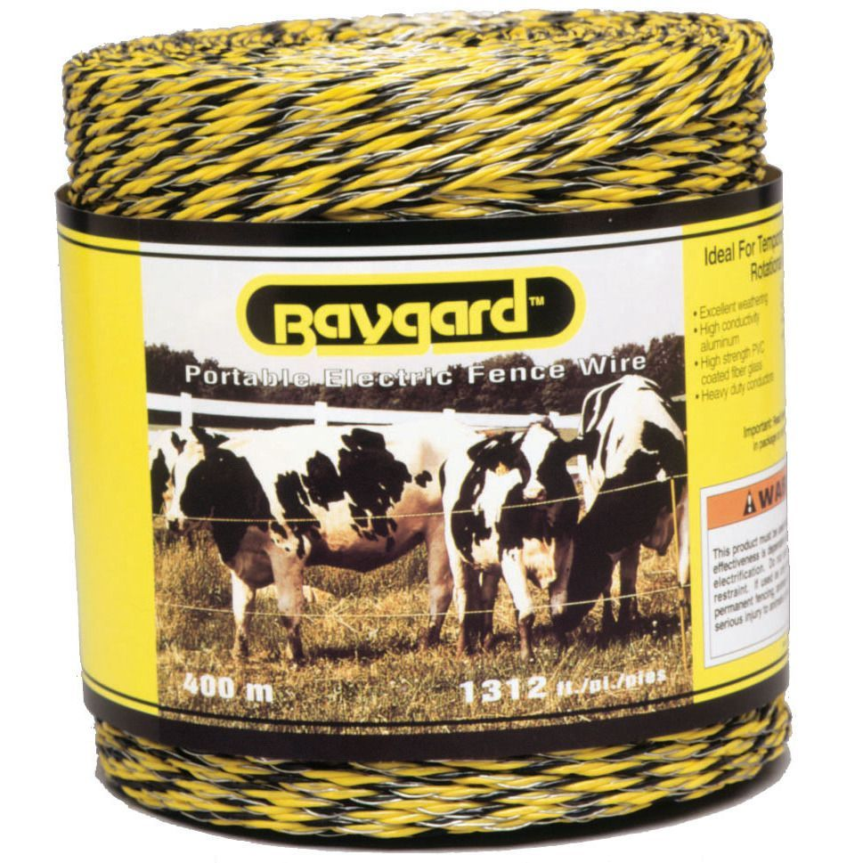Baygard 00122 1312 Feet Yellow And Black Portable Electric Fence What Is Fencing How Does An Work Wire