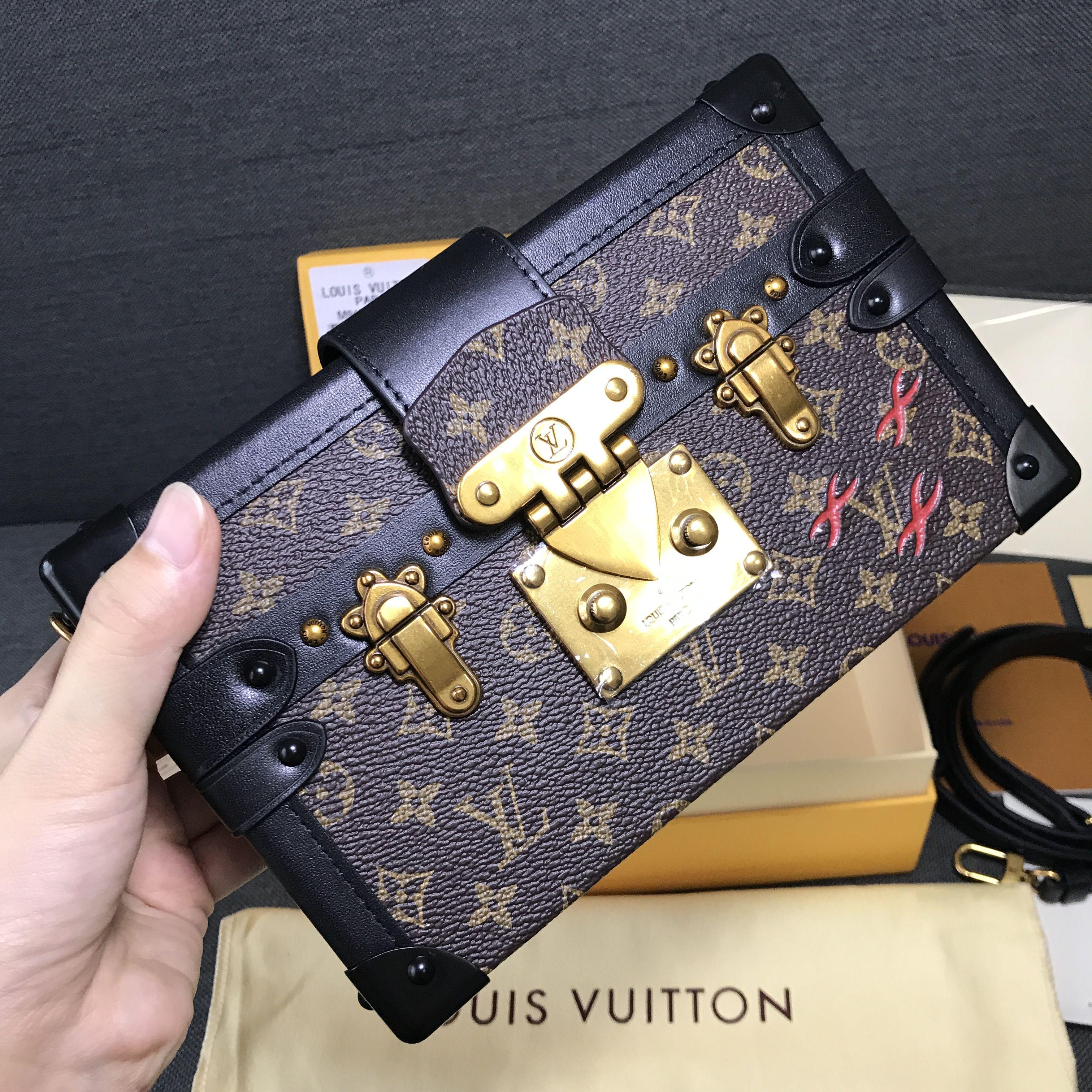 a21b06dcb3ebe Louis Vuitton lv clutch purse evening petite Malle bag monogram ...