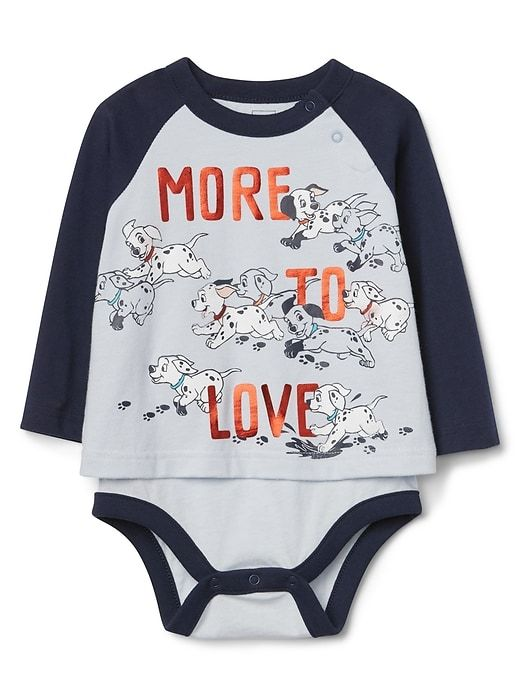 "c8378390a babyGap | Disney Baby 101 Dalmatians ""More to Love"" raglan body double,  part of the Love Collection. A doggone cute outfit for baby to celebrate  Valentines ..."
