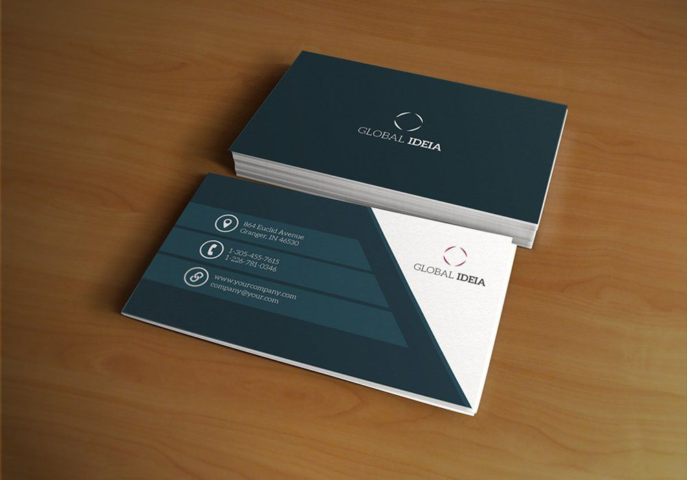 Free Corporate Business Card PSD | Business Cards | Pinterest ...