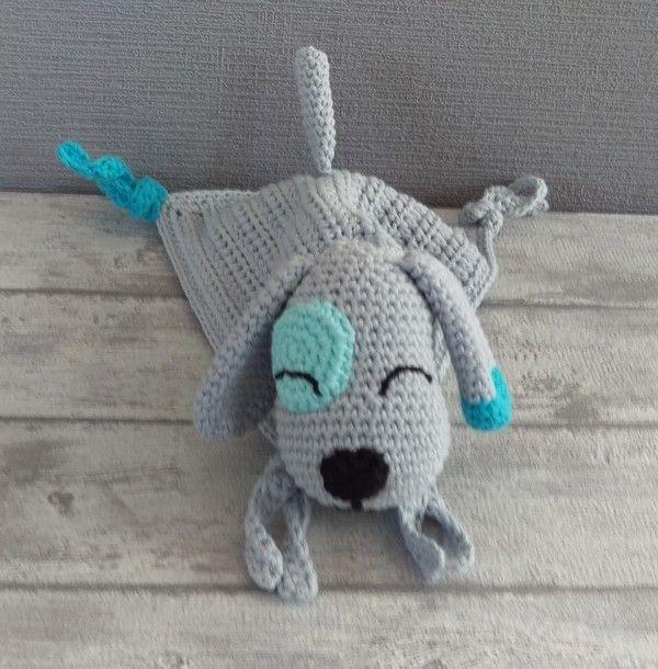 Häkelanleitung Schnuffeltuch Hund | crochet baby afghans | Pinterest ...