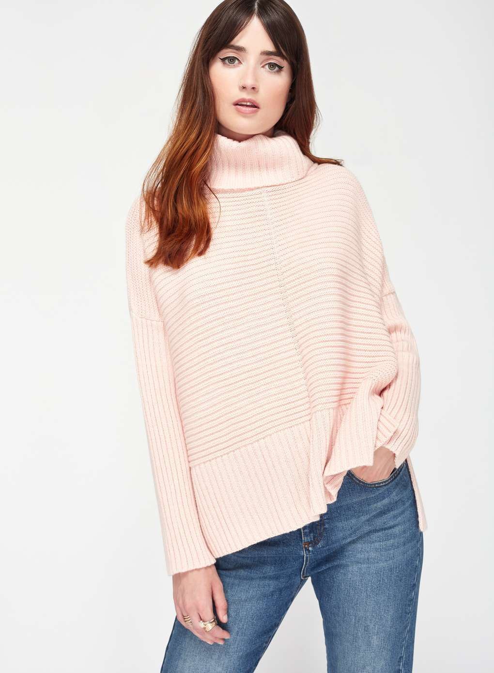 Miss Selfridge Clothing Pink Europe Chunky Tops Knitted Jumper qY1X7U