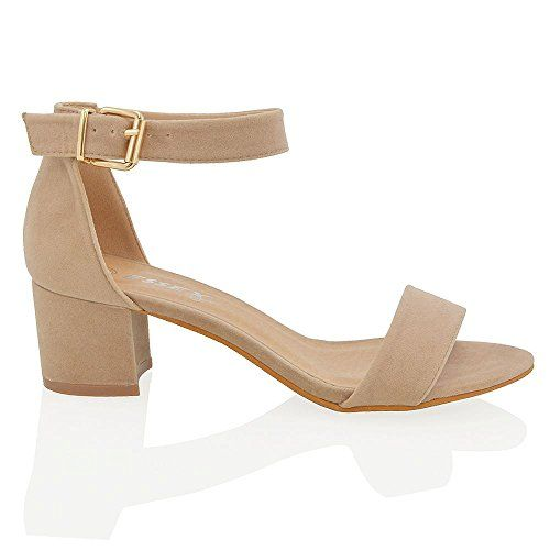 ba78c87a6bc $25 // Essex Glam Womens Low Heel Strappy Nude Faux Suede Sandal ...
