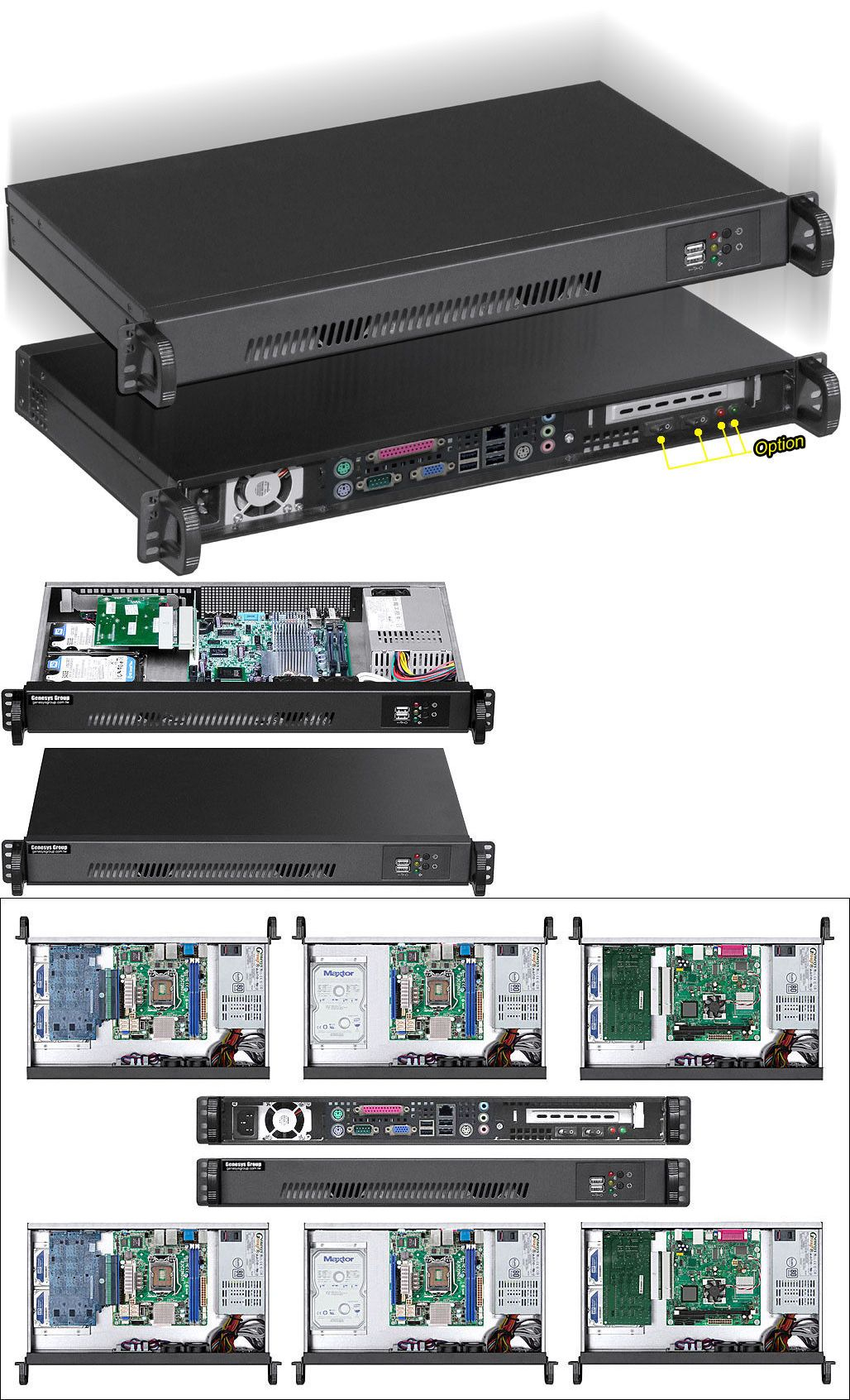 Rackmount Cases And Chassis 64061 1u 250w Psu Mini Itx Case D 9 84 2 X Hdd 2x4cm Fans Rackmount Chassis New Buy It Now Only 77 9 Mini Itx Hdd Mini