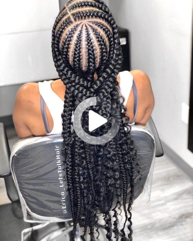2019 Hottest Braided Hairstyles 10 Braids Braidstyles Feedinbraids Neatbraids Ponytailweave Hair Styles Feed In Braid Braids Pictures