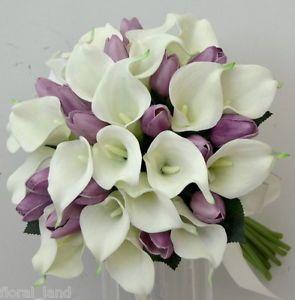 Purple Tulips Bouquet lily purple tulip wedding