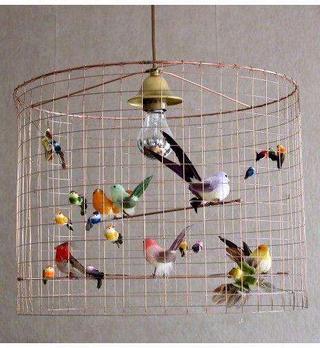 luminaire cage oiseau - idée déco #Noël #zodio http://www.zodio.fr ...